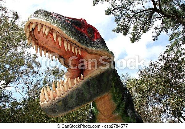 Dinosaur Fright - csp2784577