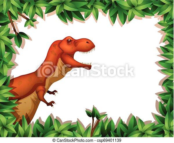 dinosaur in nature scene - csp69401139