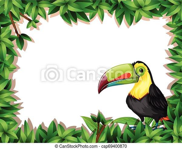 dinosaur in nature scene - csp69400870