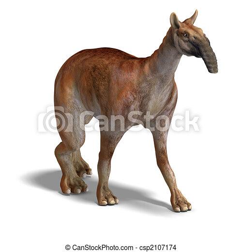 Dinosaur Macrauchenia - csp2107174