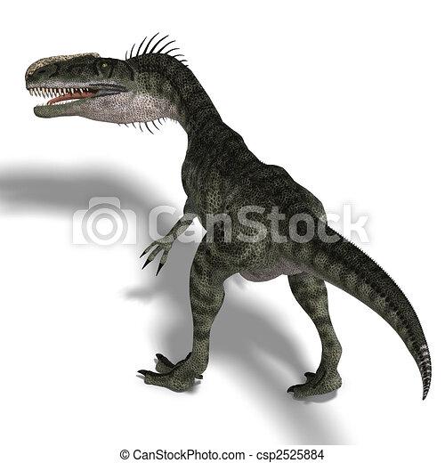 Dinosaur Monolophosaurus - csp2525884