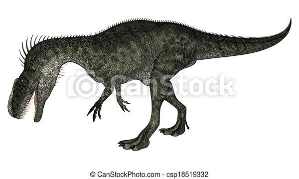 Dinosaur Monolophosaurus - csp18519332