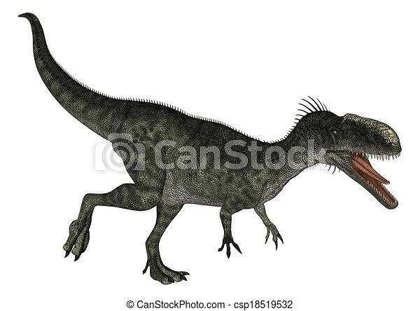 Dinosaur Monolophosaurus - csp18519532