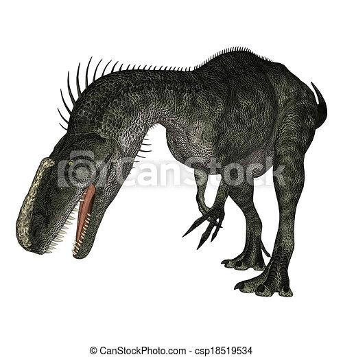Dinosaur Monolophosaurus - csp18519534