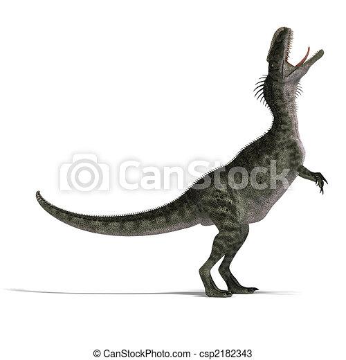 Dinosaur Monolophosaurus - csp2182343
