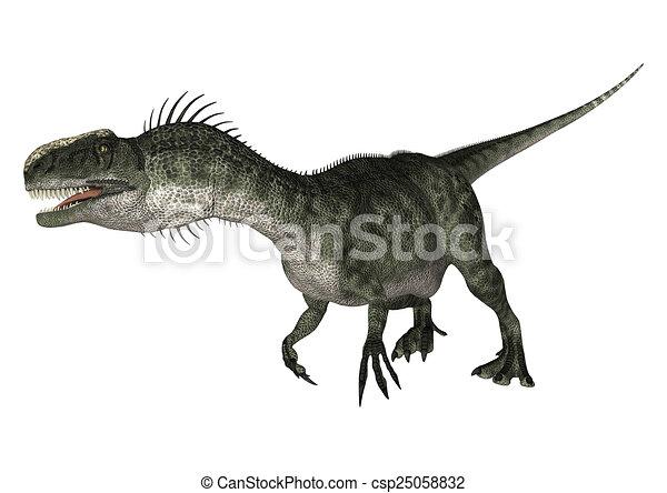 Dinosaur Monolophosaurus - csp25058832