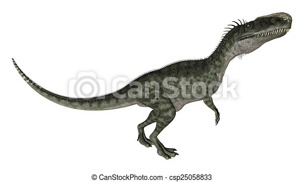 Dinosaur Monolophosaurus - csp25058833