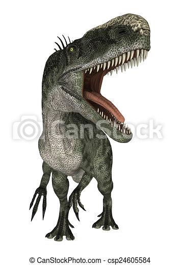Dinosaur Monolophosaurus - csp24605584