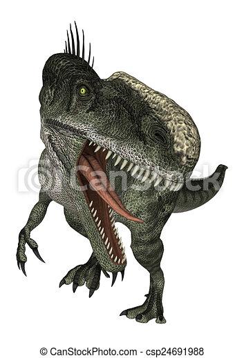 Dinosaur Monolophosaurus - csp24691988