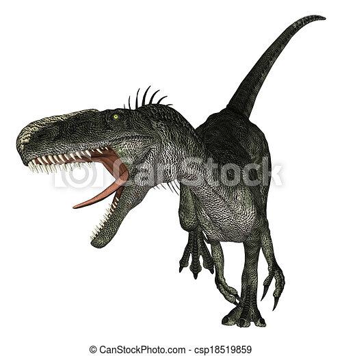 Dinosaur Monolophosaurus - csp18519859