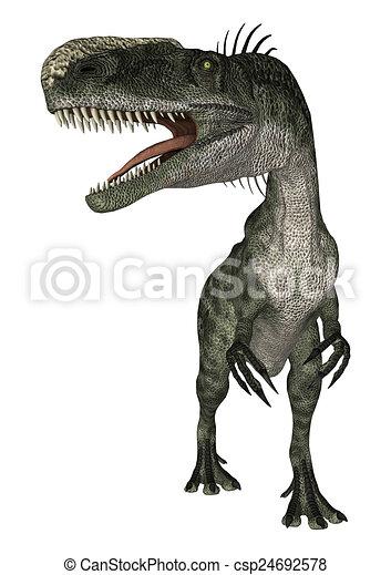 Dinosaur Monolophosaurus - csp24692578