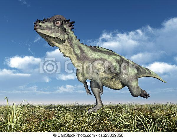 Dinosaur Pachycephalosaurus - csp23029358