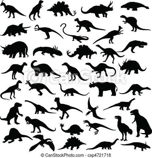 dinosaur reptiles - csp4721718
