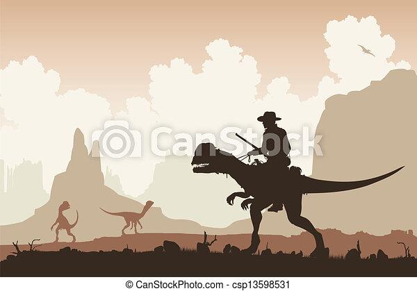 Dinosaur rider - csp13598531