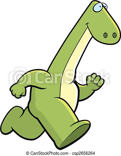 Dinosaur Running - csp2656264