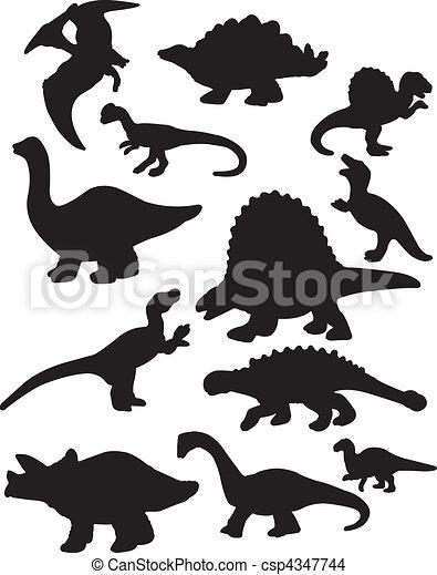 Dinosaur Silhouettes - csp4347744