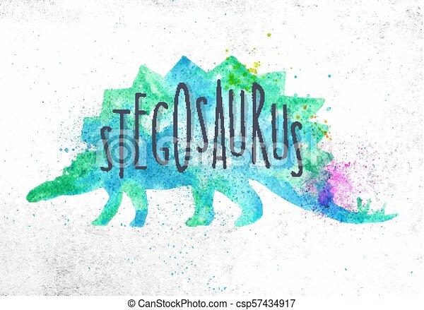 Dinosaur stegosaurus vivid - csp57434917