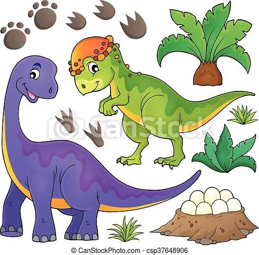Dinosaur topic set 5 - csp37648906