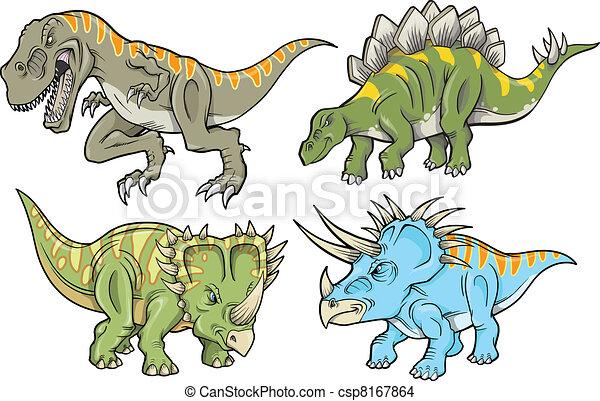 Dinosaur Vector Illustration Set - csp8167864