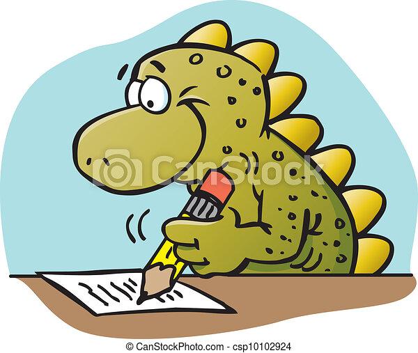 Dinosaur writing - csp10102924