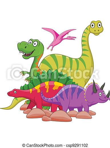 dinosaurierer, karikatur - csp9291102