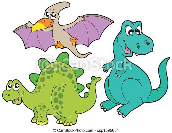 dinosaurierer, sammlung - csp1595054