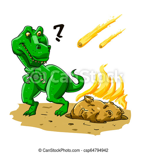 Dinosaurs extinction - csp64794942