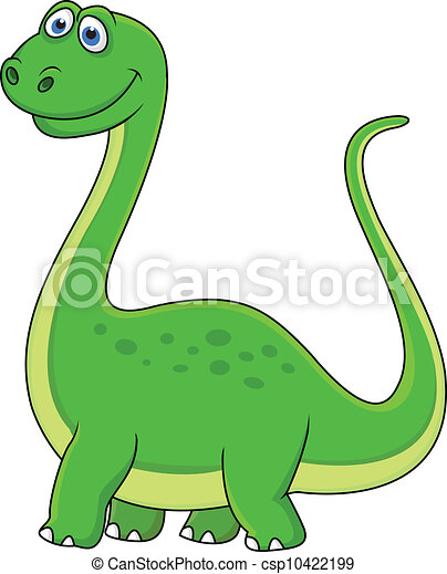 dinosaurus, spotprent - csp10422199