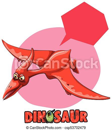 Dinossauro Adesivo Voando Desenho Pterasaur Adesivo Voando