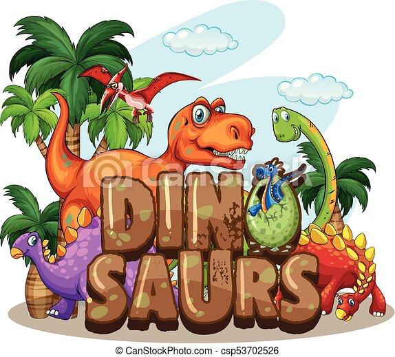 Dinossauro Dinossauros Desenho Mundo Muitos Dinossauros