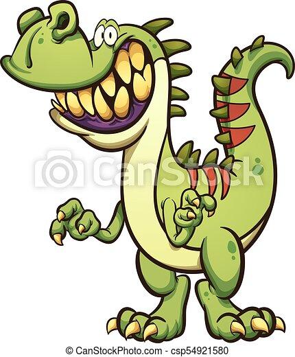 dinossauro, feliz - csp54921580