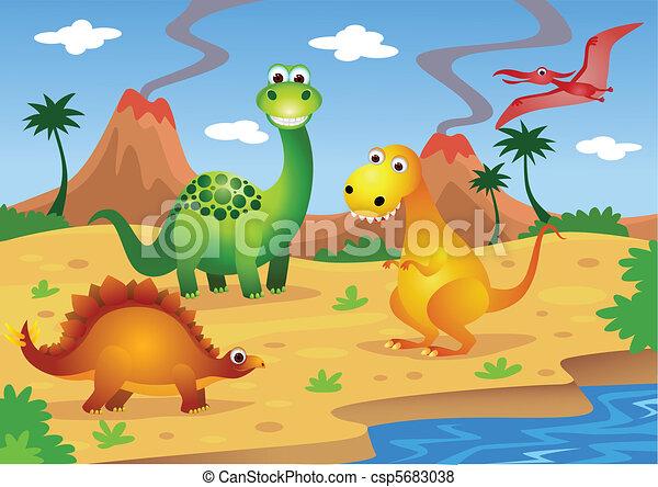 dinozaury - csp5683038