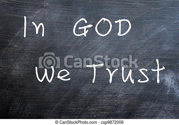 dio, noi, fiducia - csp9872006