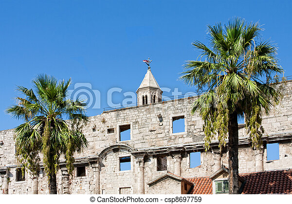 Diocletian palace ruins in Split - csp8697759