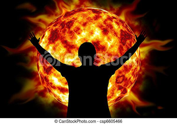 dios, adoración - csp6605466