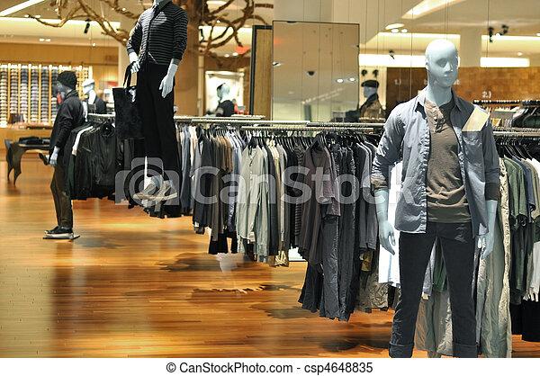 dipartimento, moda, indossatrici, negozio - csp4648835