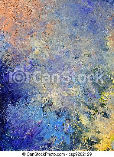 dipinto, astratto, fondo - csp9202129