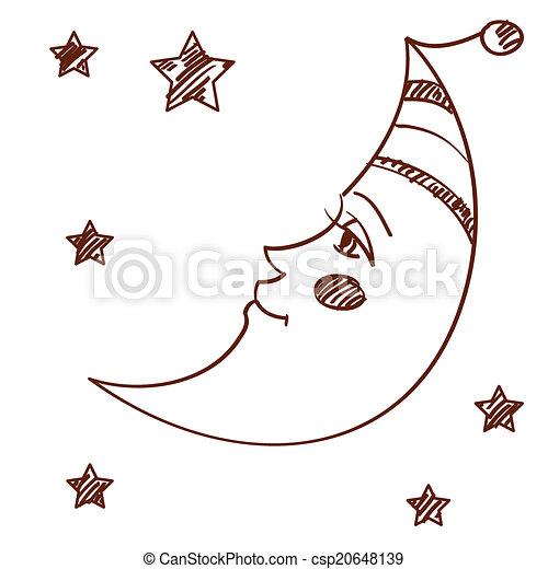 Dipinto stilizzato luna dipinto stilizzato isolato for Immagini cavalli stilizzati