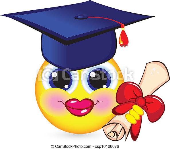 diplômé, gai, smiley - csp10108076