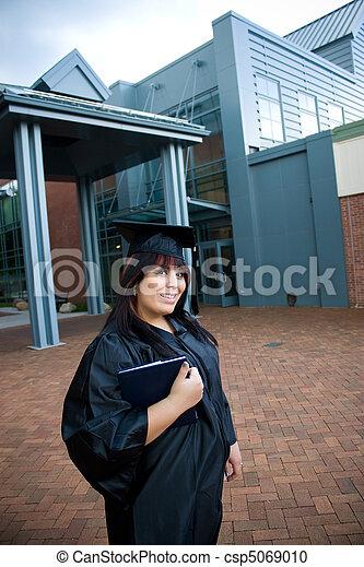 diplôme, elle, diplômé - csp5069010