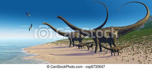 Diplodocus Herd - csp6730647