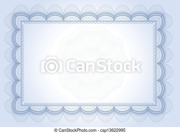 diploma, certificaat - csp13622995
