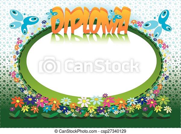 Diploma for Children - csp27340129