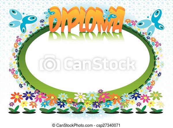 Diploma for Children - csp27340071