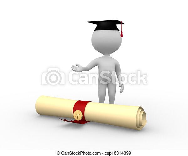 diploma, graduação - csp18314399