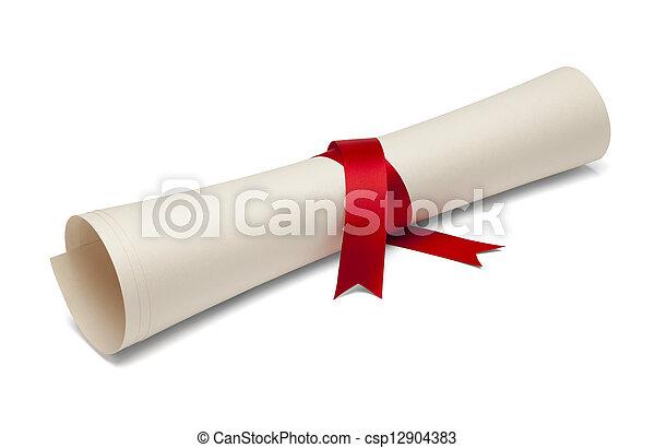 Diploma - csp12904383