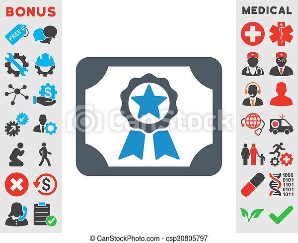 Premio icono diploma - csp30805797