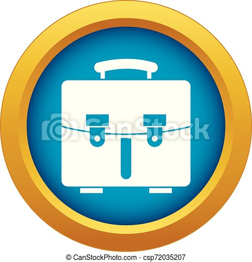 Diplomat bag icon blue vector isolated - csp72035207