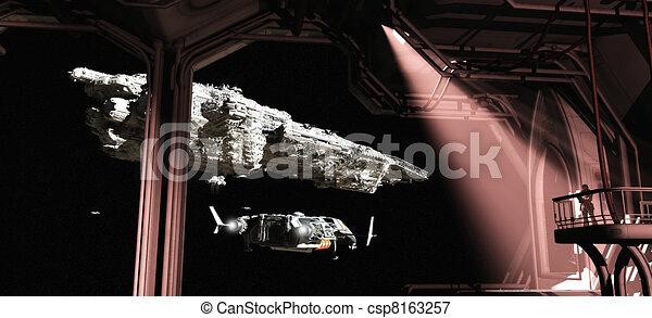 diques, titán, barcos, espacio, salida - csp8163257