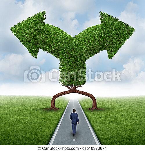 direção, crescimento, escolha - csp18373674
